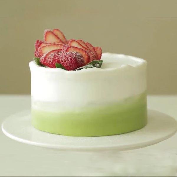 日式草莓抹茶奶油蛋糕